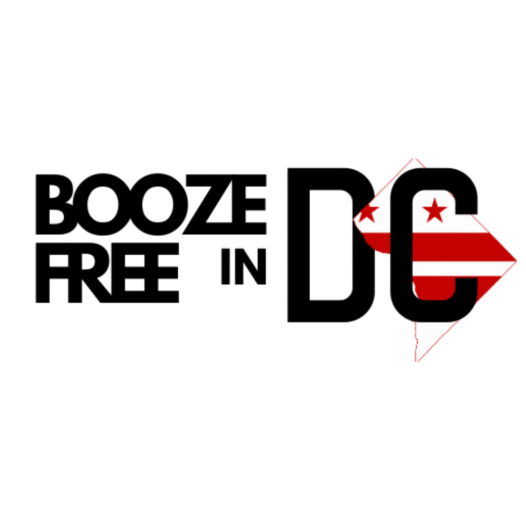 Booze Free in DC white background